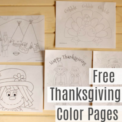 Thanksgiving Color Pages -Free Printable