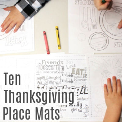 Thanksgiving Place Mats for Kids – Free Printable