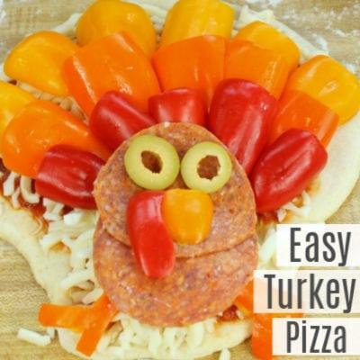 Fun Thanksgiving Turkey Pizza for Kids