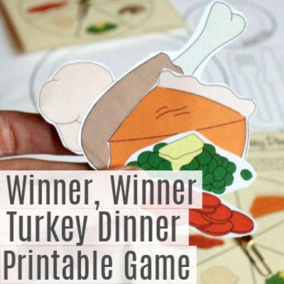 Winner, Winner Turkey Dinner -Printable Family Game Night Ideas