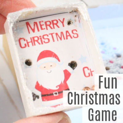 Fun Game for Kids -Recycled Christmas Card Ideas
