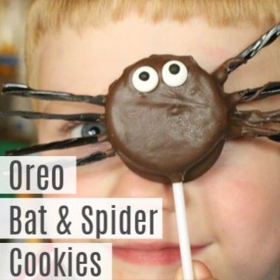 Bats & Spiders Halloween Oreos