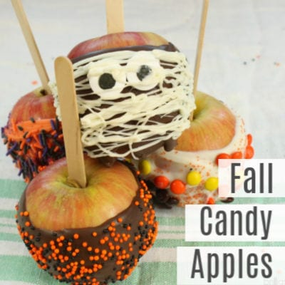 Simple Fall Candy Apples