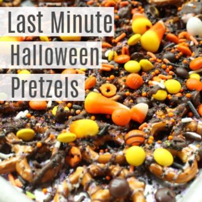 Last Minute Halloween Pretzels