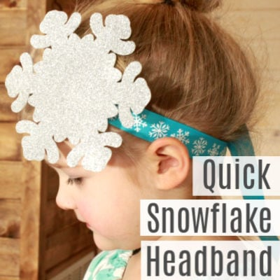 Super Easy Snowflake Headbands