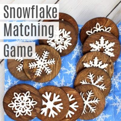 DIY Snowflake Matching Game for Kids