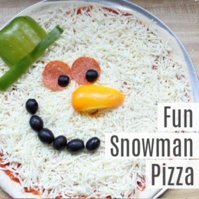 Fun Snowman Pizza Recipe for Kids