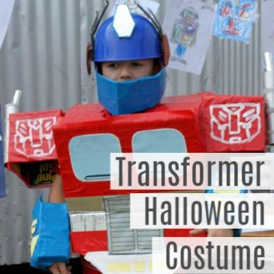 DIY Optimus Prime Transformer Costume