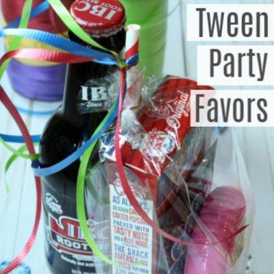 Super Easy Tween Party Favors