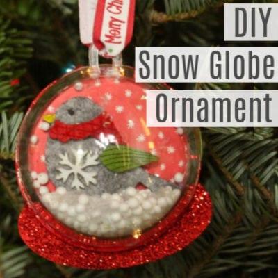 DIY Christmas Ornament -Snow Globe Ornament
