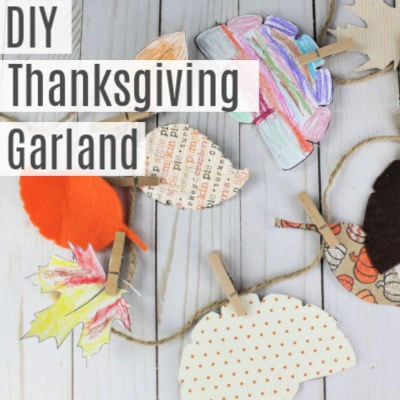 DIY Thanksgiving Garland -Printable Template