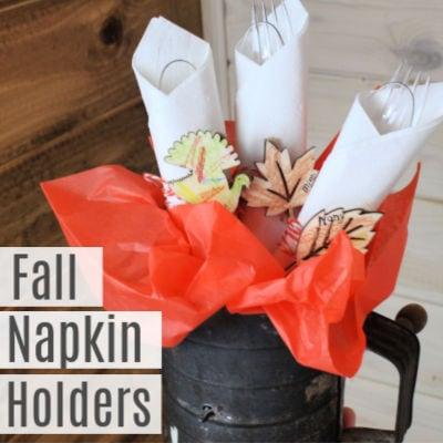 Easy Thanksgiving Napkin Holders Kids Can Make