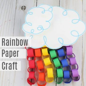 Rainbow Paper Craft for Kids