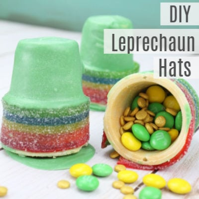 Candy Filled Leprechaun Hats -St Patrick's Day Snacks for Kids