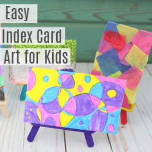 Easy Index Card Art Projects  for Kids