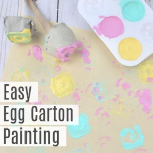 Easy Egg Carton Painting Craft for Kids