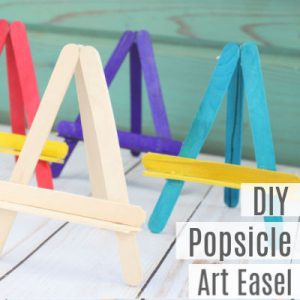 How to Make a Popsicle Stick Art Easel