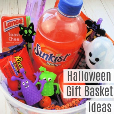 Halloween Gift Basket Ideas and Gift Tags